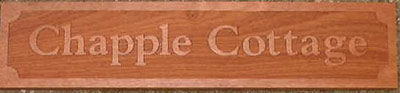 Sapele House Name Plate