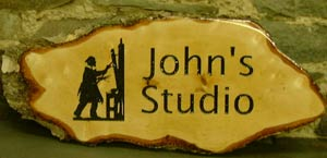 John's Studio Wooden Sign