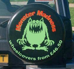 Monster Madness Wheel Cover