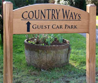 Wooden Entrance Sign
