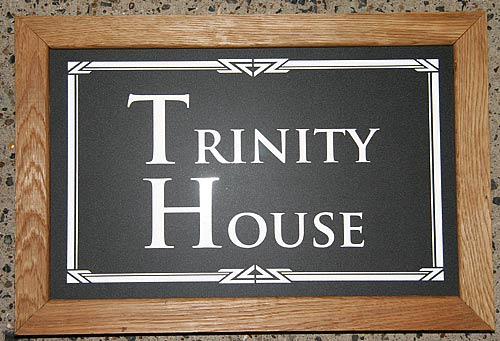 Wooden Frame House Sign