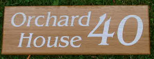 Wooden House Sign
