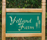 Oak framed entrance sign