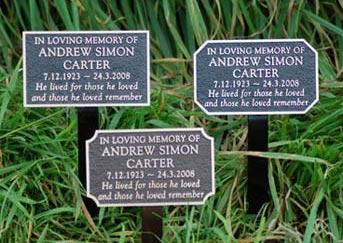 Cast Bronze Memorials And Memorial Plaques