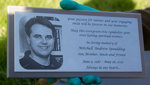 Stainless Steel Memorial Plaque with a Photo