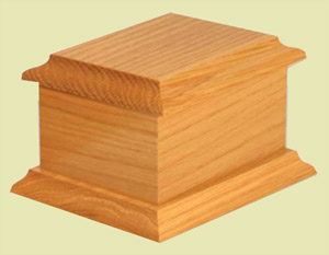 Small wooden urn