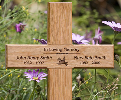 wooden memorial crosses oak cross wooden cross the sign maker