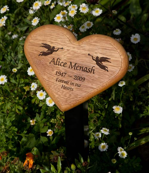 Heart shaped wood plaque