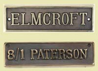 Antique finish brass nameplate