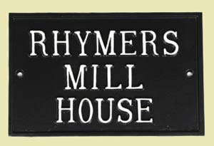 Large rectangle house sign