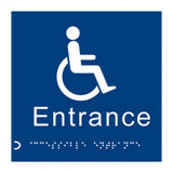 Braille disabled entrance  sign