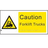 Braille caution forklifts