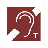 Braille hearing loop symbol