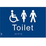 Braille toilet sign