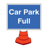 Car park full cone notice