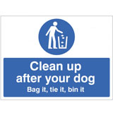 Clean up after your dog notice