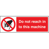 Do not reach into this machine