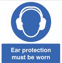 Mandatory Sign - Ear protection must be worn