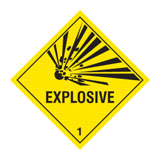 Expolosive GHS label