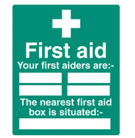 Your first aiders are:-