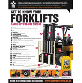 Forklift inpection checklist poster
