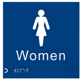 Womens Toilets Braille