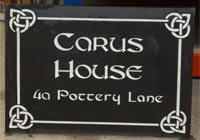 Celtic House Sign