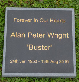 Black granite memorial slab with sand blasted edge