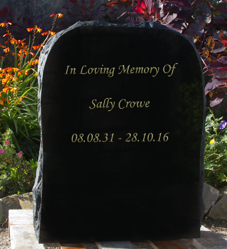 Memorial stone which could be used as a rustic headstone