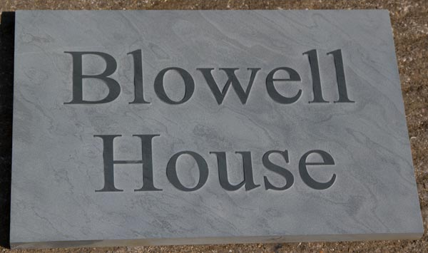 bespoke slate home signs and slate address signs the. Black Bedroom Furniture Sets. Home Design Ideas
