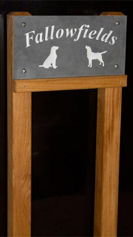 Posts are available for slate signs