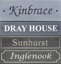 Slate House Signs -Standard Sizes