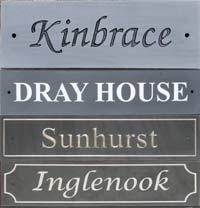 Slate House Signs Slate Home Name Plates The Sign Maker