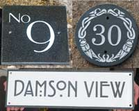Ideas for slate and stone signs
