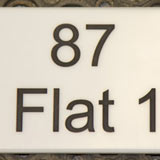 Engraved corian house address sign