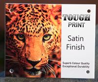 Full colour house signs in TOUGH PRINT