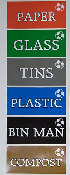 Recycling Bin Stickers The Sign Maker