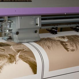 Printing the canvas