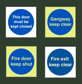 Mandatory Fire Action Signs