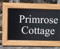 Oak framed house signs