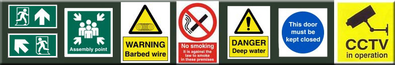 Safety signs and signage