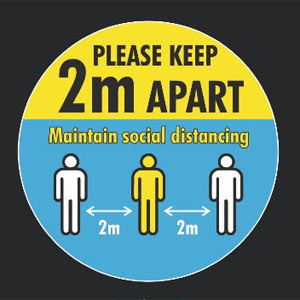 2m Apart - Maintain Social Distancing