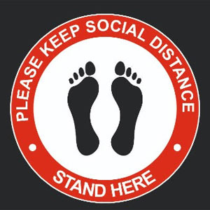 Please Keep Social Distance - Stand Here