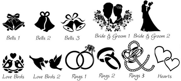 Images which can be used on wedding signs