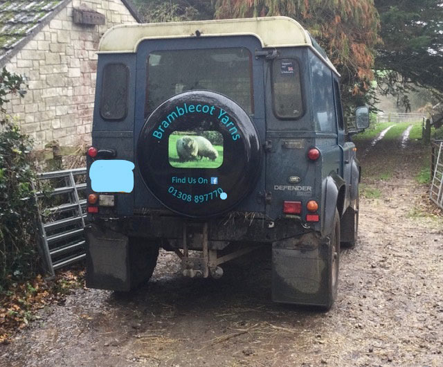Wheelcover on Landrover