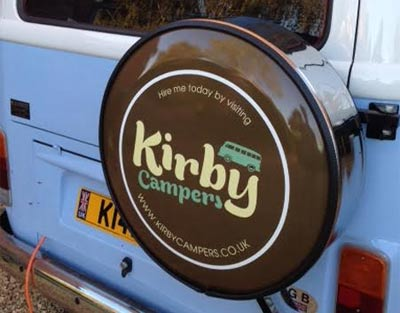 Full wrap campervan wheelcover