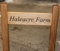 Solid Oak Entrance Sign