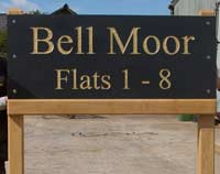 Posts for granite and slate signs