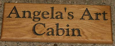 Wooden House Signs Oak Name Plates Wood Posts The
