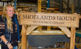 Large oak signs made just the way you want
